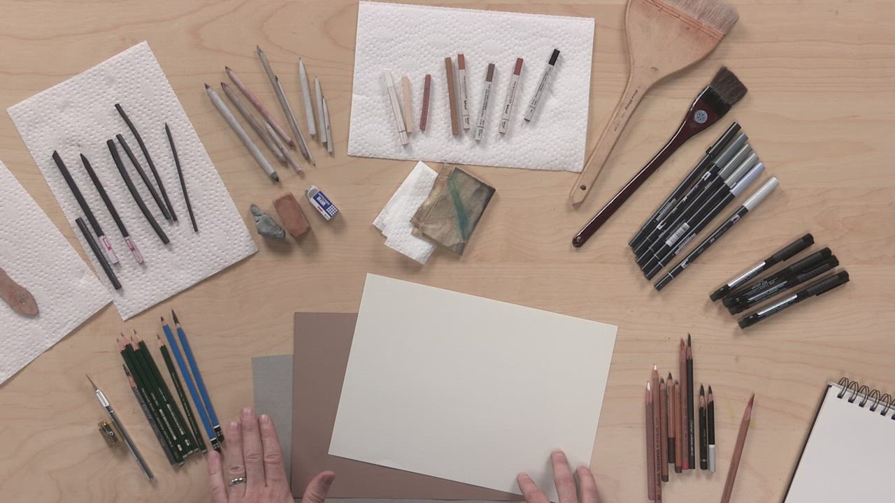 The best paper for drawing with colored pencil graphite and